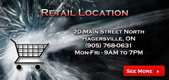 Retail Store - 20 Main Street North, Hagersville ON, (905) 768-0631, Monday to Friday, 9AM to 7PM